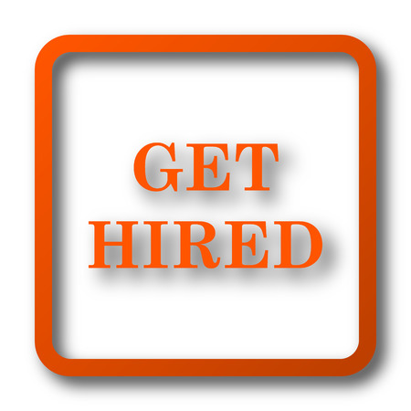 vacancies: Get hired icon. Internet button on white background.