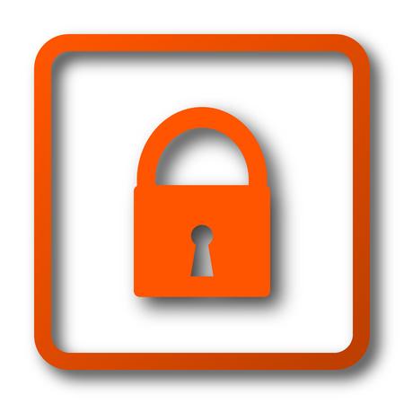 Lock icon. Internet button on white background.