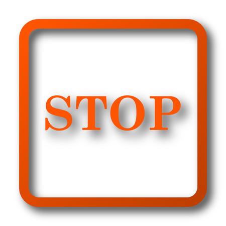pause icon: Stop icon. Internet button on white background.