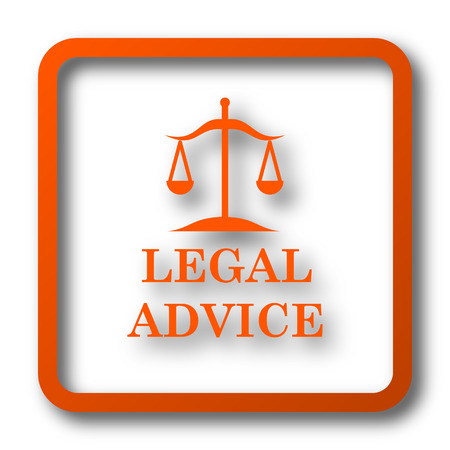 Legal advice icon. Internet button on white background.