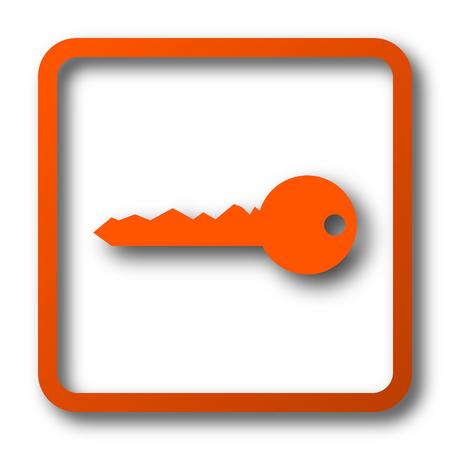 Key icon. Internet button on white background. Stock Photo
