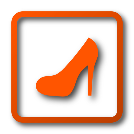 pike: High heel icon. Internet button on white background. Stock Photo