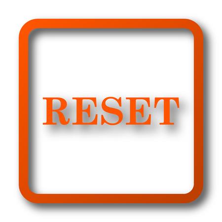 revise: Reset icon. Internet button on white background.