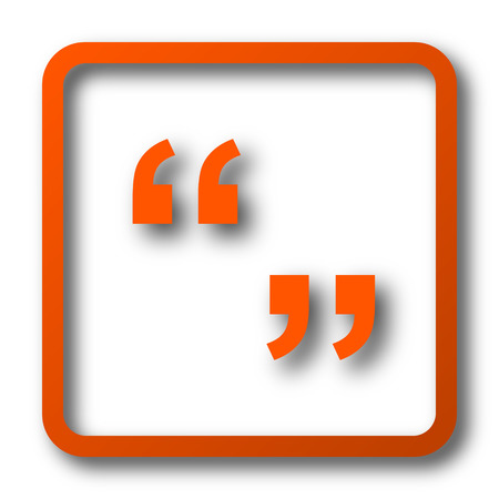 quotation: Quotation marks icon. Internet button on white background.