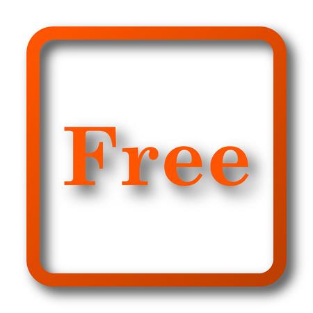 Free icon. Internet button on white background.