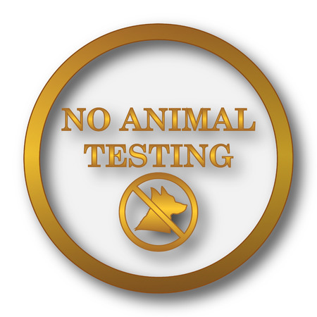 No animal testing icon. Internet button on white background.