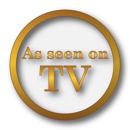 As seen on TV icon. Internet button on white background. Stock Photo