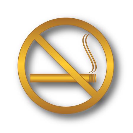 No smoking icon. Internet button on white background.