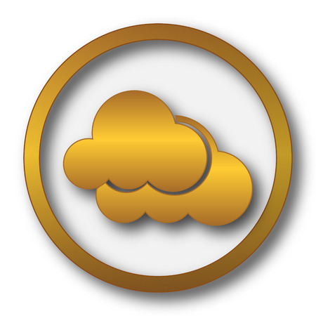 Clouds icon. Internet button on white background.