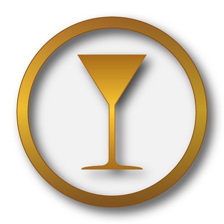 Martini glass icon. Internet button on white background.