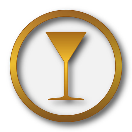 wineglass: Martini glass icon. Internet button on white background.