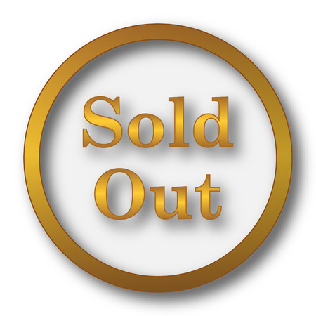 Sold out icon. Internet button on white background.