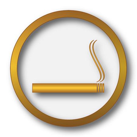 Cigarette icon. Internet button on white background.