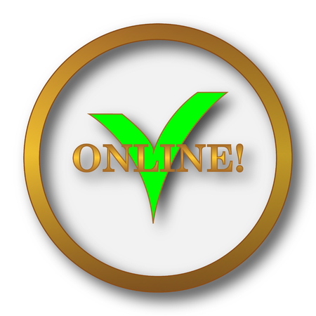 Online icon. Internet button on white background.