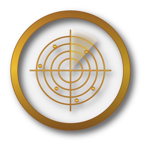 Radar icon. Internet button on white background. Stock Photo