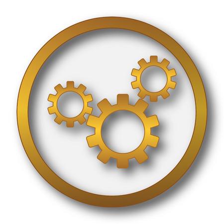 volume knob: Settings icon. Internet button on white background. Stock Photo