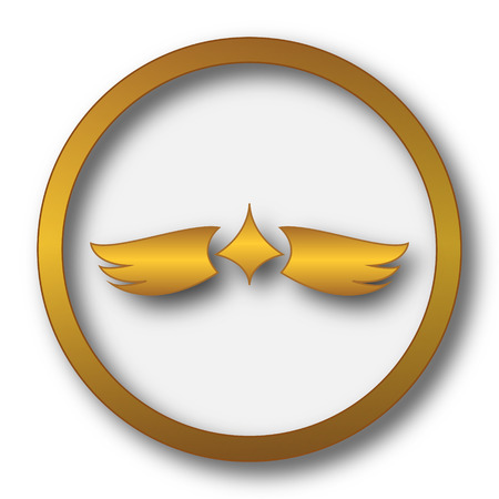 Wings icon. Internet button on white background. Stock Photo