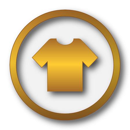 T-shirt icon. Internet button on white background.