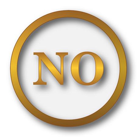 No icon. Internet button on white background. Stock Photo