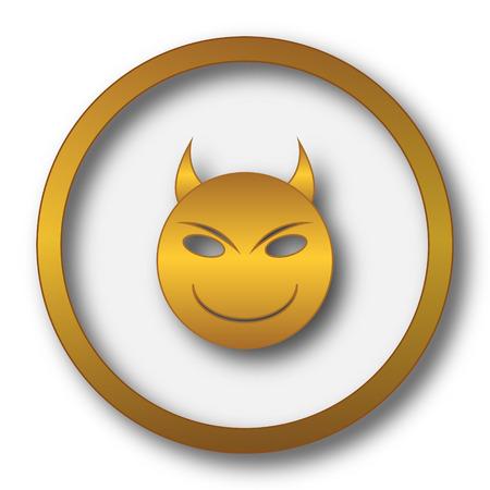 Evil icon. Internet button on white background. Stock Photo