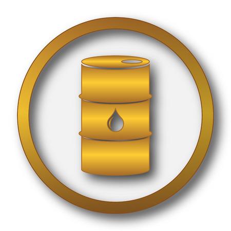 oil drum: Oil barrel icon. Internet button on white background. Stock Photo