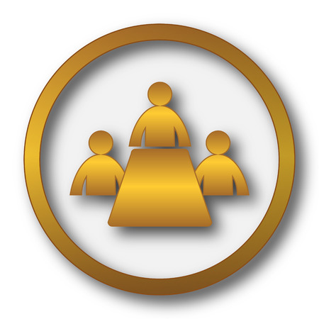 Meeting room icon. Internet button on white background.