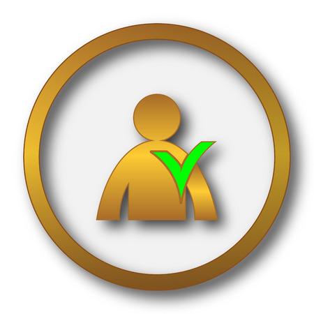 User online icon. Internet button on white background.