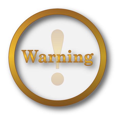 Warning icon. Internet button on white background. Stock Photo