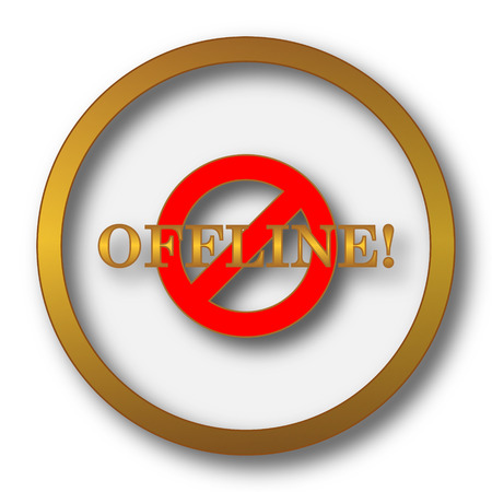Offline icon. Internet button on white background.