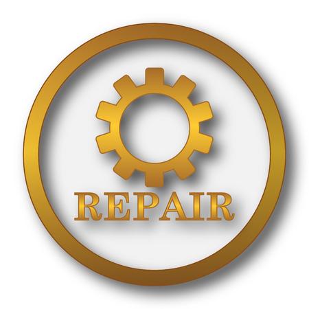 Repair icon. Internet button on white background. Stock Photo