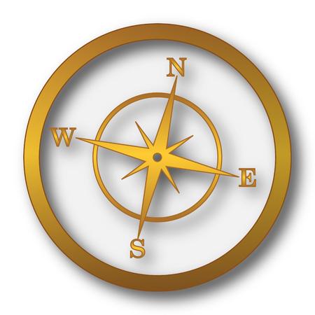 Compass icon. Internet button on white background.