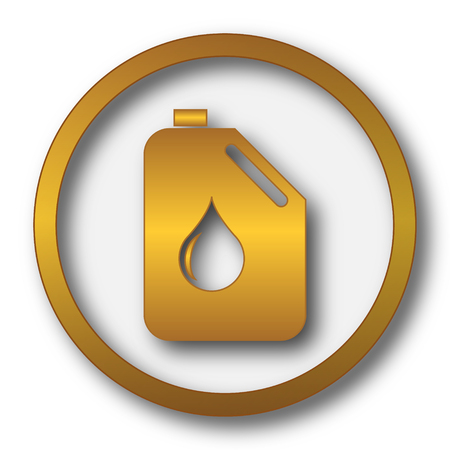 gas can: Oil can icon. Internet button on white background. Stock Photo