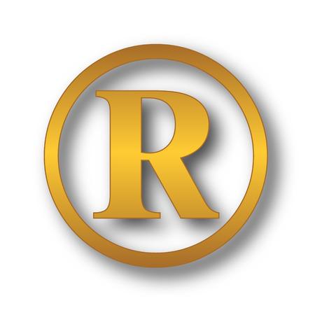 Registered mark icon. Internet button on white background.