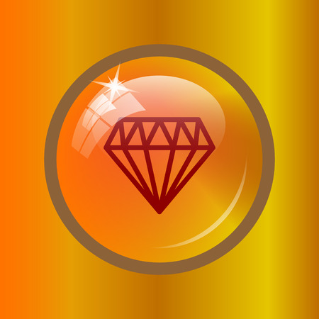 unbreakable: Diamond icon. Internet button on colored background.
