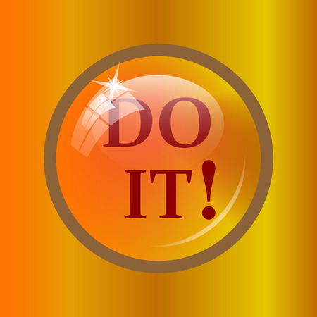 just do it: Do it icon. Internet button on colored background.