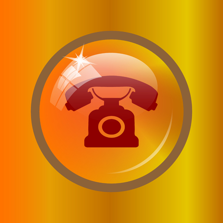 phone button: Phone icon. Internet button on colored background. Stock Photo