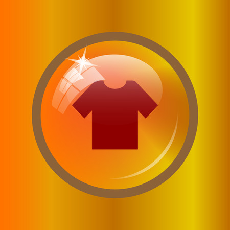 T-short icon. Internet button on colored background.