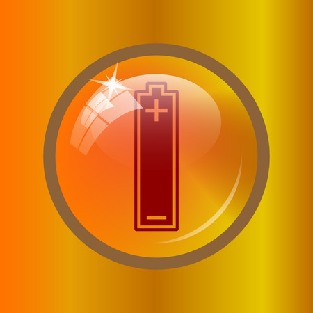 accumulator: Battery icon. Internet button on colored background.