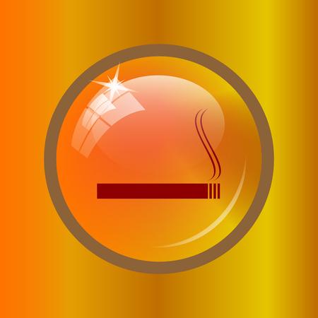 Cigarette icon. Internet button on colored background.