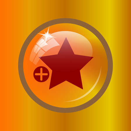 preference: Add to favorites icon. Internet button on colored background. Stock Photo