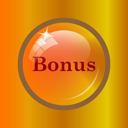 bonus: Bonus icon. Internet button on colored background.