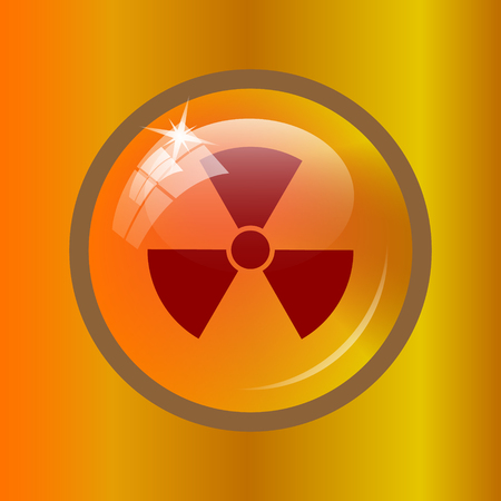 Radiation icon. Internet button on colored background.