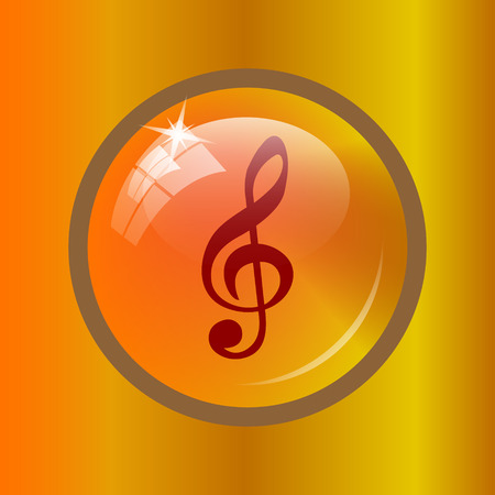 melodic: Musical note icon. Internet button on colored background. Stock Photo