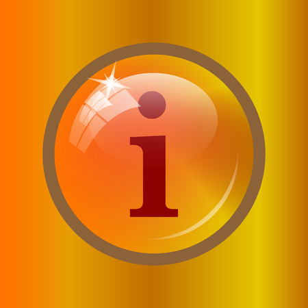 Info icon. Internet button on colored background.
