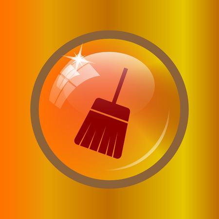 sweep: Sweep icon. Internet button on colored background. Stock Photo