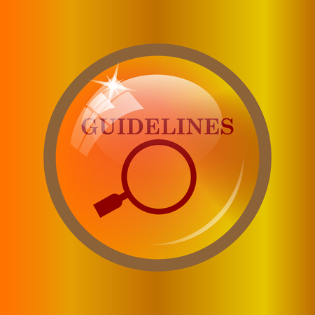specification: Guidelines icon. Internet button on colored background.