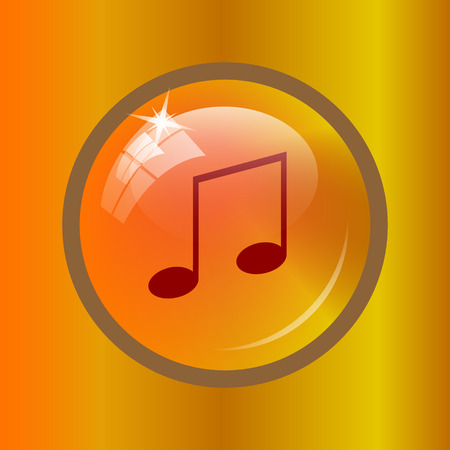 melodic: Music icon. Internet button on colored background. Stock Photo