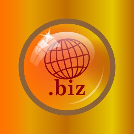 .biz icon. Internet button on colored background.