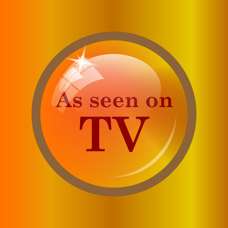 As seen on TV icon. Internet button on colored background.