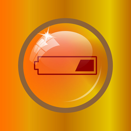 1 third charged battery icon. Internet button on colored background.